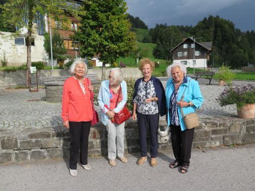 Ausflug nach Sibratsgfäll für über 85jährige Bregenzer/innen September 2018